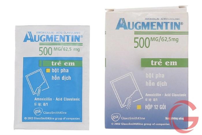 augmentin 500mg cho trẻ em