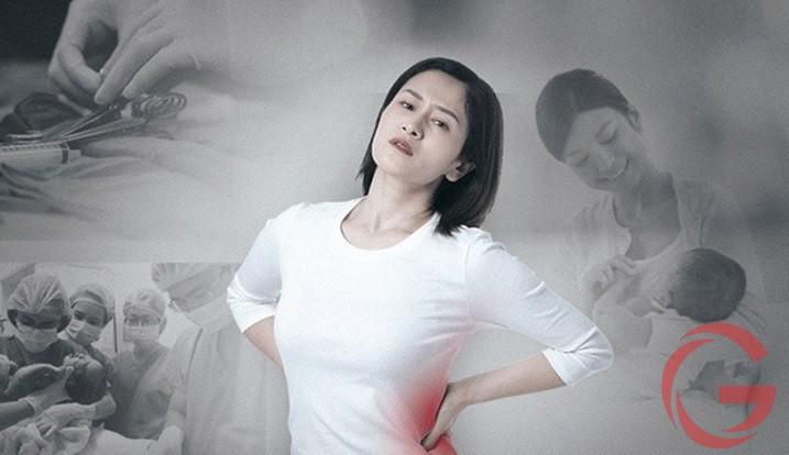 đau lưng sau khi sinh thường
